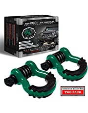 """AUTMATCH Shackles 3/4"""" D Ring Shackle (2 Pack) 41,887Ibs Break Strength with 7/8"""" Screw Pin and Shackle Isolator & Washers Kit for Tow Strap Winch Off Road Vehicle Recovery"""