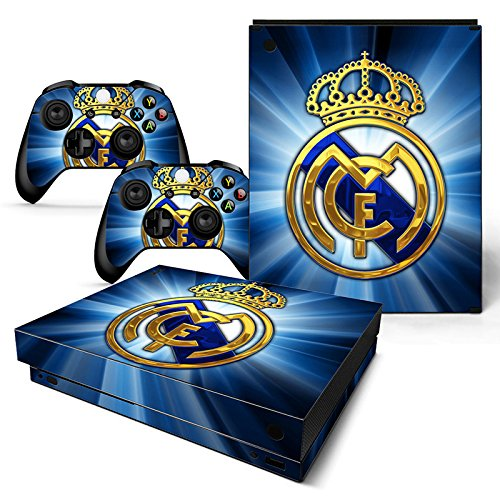 FriendlyTomato Xbox One X Console and Wireless Controller Skin Set - Madrid - XboxOne X XOX Sticker Vinyl