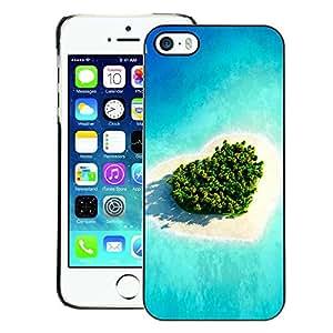 Snap-on Series Teléfono Carcasa Funda Case Caso para iPhone 5 / 5S , ( Heart Love Island )
