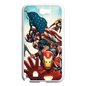 C-EUR Diy Phone Case Avengers Marvel Pattern Hard Case For Samsung Galaxy Note 2 N7100