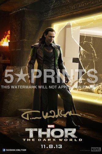Loki tom hiddleston cartel foto 12 x 20,32 cm firmado PP ...