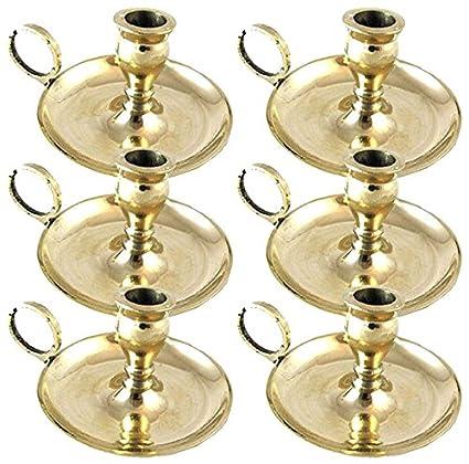 2 Biedermann /& Sons Brass Chamberstick Candle Holder