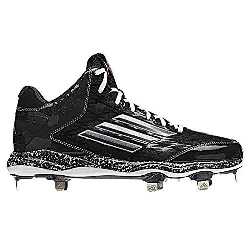 Adidas Poweralley 2 Mid Herre Baseball Klampen 13 Sort-carbon Met-kulstof YSFEJuQfAI