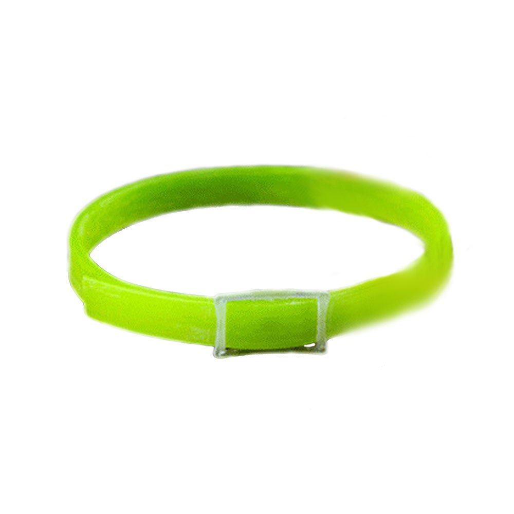 Hamiledyi Flea and Tick Prevention Collar for Dogs Cat Person Outgoing Exercising (green, 15.7'')