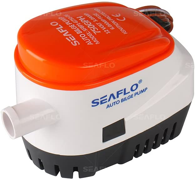 SEAFLO Automatic Submersible Boat Bilge Water Pump 12v 750gph Auto with Float Switch-New