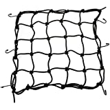 "XYZCTEM Heavy-Duty 12"" Cargo Net for Motorcycles, ATVs , Stretches to 30""-Fit For All Motor and Bike"