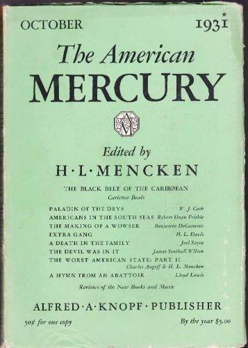 The American Mercury; Volume XXIV, Number 94, October, 1931