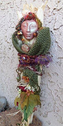 OOAK Mabon Spirit, Kitchen Witch assemblage art doll Shaby Chic Decor