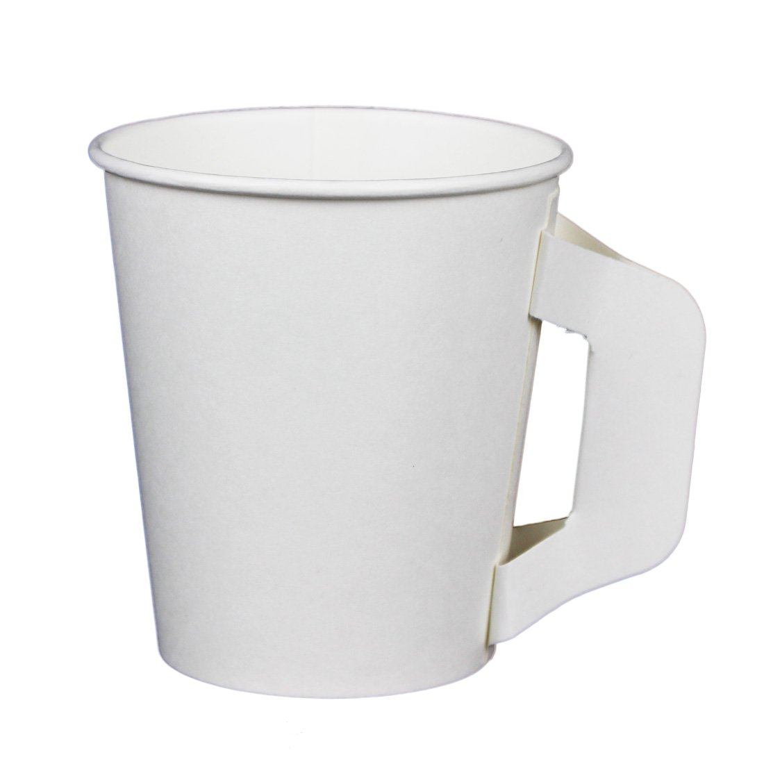 Hot Beverage Cup for Coffee, Tea, Water, Shots, Wheat Grass, Samples – With Handle (50ct 6oz)