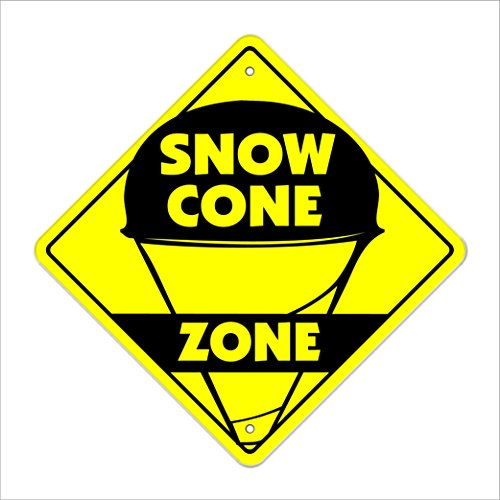 Snow Cone Crossing Sign Zone Xing | Indoor/Outdoor | 14