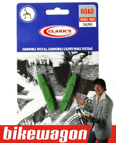 Campagnolo Clark's Road Bike Brake Pads - Green
