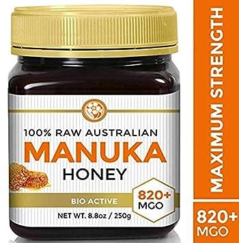 Raw Manuka Honey Certified NPA 20+ Highest Grade MGO 820+ Medicinal  Strength - BPA Free Jar -