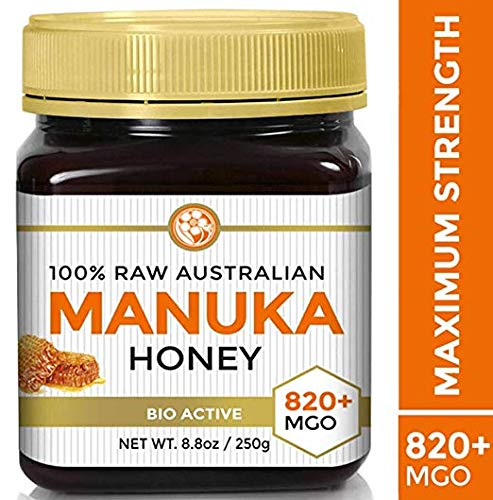 Raw Manuka Honey Certified NPA 20+ Highest Grade MGO 820+ Medicinal Strength - BPA Free Jar - Cold Extraction - Independently Verified 250g