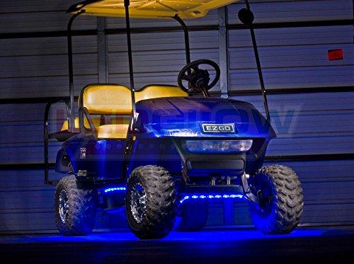 Ledglow 4pc Blue Led Golf Cart Underbody Underglow Light