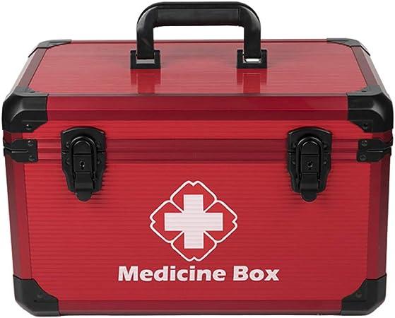QXTT Botiquín De Primeros Auxilios Marco De Aluminio Caja De Almacenamiento De Medicamentos Inducción Inteligente Caja De Medicamentos Caja Maquillaje Botiquín Botiquín De Primeros Auxilios: Amazon.es: Hogar