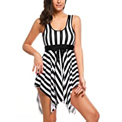 Lamore One Piece Bathing Womens Swimsuit Removable Strap Wrap Pad Cover Up Plus Size Swimwear For Women