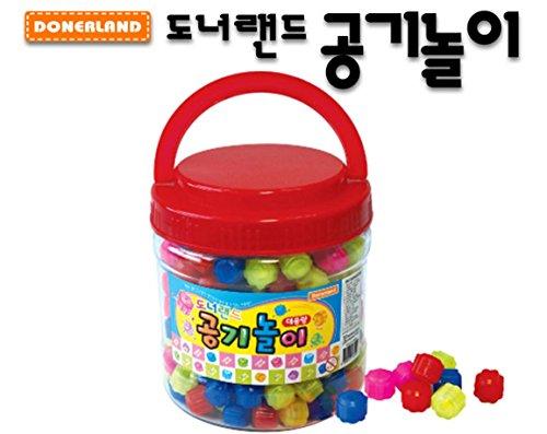 Gonggi Konggi Gong Gi Jack Stone Game 공기놀이 1Case x 300Pieces Korea Fun Play Gift + 1 Free Gift Giraffe Bookmark (Jack Stone Game)