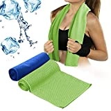 """Cooling Towel for Sports, Workout, Fitness, Gym, Yoga, Pilates, Travel, Camping & More  How To Use It? Simply remove the Cooling Towel, soak it in cold water, wring it out, give a quick """"snap"""", and its ready to drape around your neck. If it start..."""