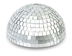 """12"""" Half Disco Mirror Ball Centerpiece - Silver"""