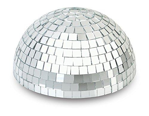 Disco Ball Centerpiece - Quasimoon PaperLanternStore.com 8 Inch Half Disco Mirror Ball Centerpiece - Silver