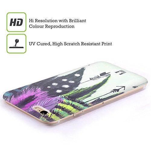 Head Case Designs Frecce Romantiche Piume Damore Cover Morbida In Gel Per Apple iPhone 5c