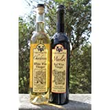 Virginia Vinegar Works Red Wine & White Wine Vinegars - 2PACK - Handcrafted Limited Production. Made only from the finest red and white wines. May include Heritage Blend, Chardonnay, Merlot or Norton wines. 1 red and 1 white. Salad, Cooking, & Drinking Vinegar