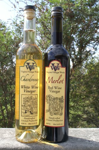 Chardonnay Wine Sauce - Virginia Vinegar Works Red Wine & White Wine Vinegars - 2PACK - Handcrafted Limited Production. Made only from the finest red and white wines. May include Heritage Blend, Chardonnay, Merlot or Norton wines. 1 red and 1 white. Salad, Cooking, & Drinking Vinegar