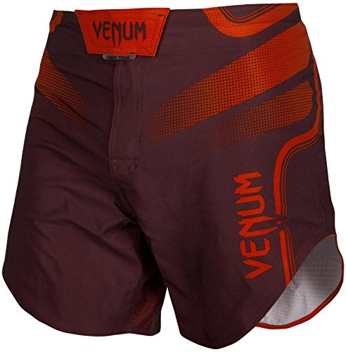 (Venum Tempest 2.0 Lightweight Mid-Thigh MMA Fight Shorts - 2XL - Red/Red)