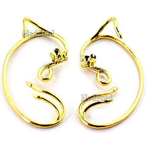 Ear Cuffs Beauty & The Beast Enchanted Gold Plated Earrings Jewelry (The Tree Of Life Bluray)