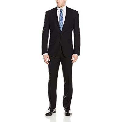 Carlo Lusso Men's Single Breasted Slim Fit 2 Piece Solid Suit Set at Amazon Men's Clothing store