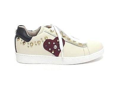 nuovo concetto 4fef5 57c86 Twin Set Bambina, HA78EA, Scarpe Pelle Beige Sneakers A7102