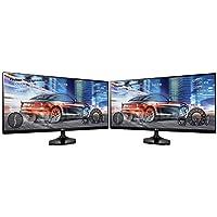 LG (25UM58) 2560 x 1080 Resolution (FHD) 25 Dual Monitor Workspace Bundle
