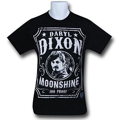 The Walking Dead Daryl Dixon Moonshine T-Shirt - Black (Large)