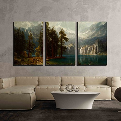 Sierra Nevada in California by Albert Bierstadt Giclee x3 Panels