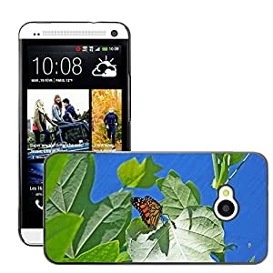 GoGoMobile Slim Protector Hard Shell Cover Case // M00124264 Butterfly Monarch Insect Bug Wings // HTC One M7