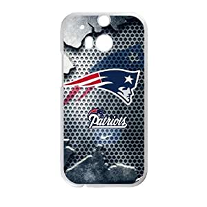 Hoomin Cool New England Patriots HTC One M8 Cell Phone Cases Cover Popular Gifts(Laster Technology)