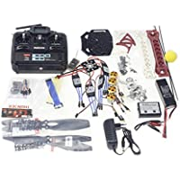 QWinOut DIY RC Quadcopter Drone ARF Unassembly Full Set Combo: 6CH RC Tarot SK450 QQ Super Flight Controller Welded Aircraft