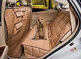 Homeyone Total Coverage Waterproof Dog Pet Travel Back Seat Cover Pad (Tan)