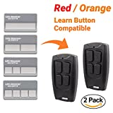 #10: 2 Pack - Replacement Remote for Liftmaster Chamberlain Craftsman Garage Door Openers with RED or ORANGE Learn Button 390MHz