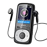 wiwoo B3 16gb MP3 Player With Fm Radio / MP4 Player , MP3 Music Player Portable MP3 Player For Kids With Arm band ( Expandable Up to 64gb,Sd Card Is Not Included) Black