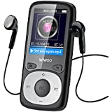 wiwoo B3 MP3 Player With Fm Radio, Portable Music Player / MP4 Player, Mini MP3 Player For Kids With Armband For Running Sports, MP3 Players 16gb With Memory Extension (black)