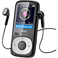 WiWoo B3  16GB Portable Sport MP3 Player With Adjustable Armband For Running Jogging,Lossless Music Player With Independent Lock Key, Expandable up to 128GB,Long Playing Time(Black)