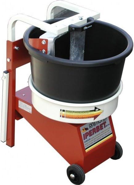 Amasadora IPERBET - Aspas fijas y cubo rotante - Para amasar cemento cola, monocapa, morteros,..