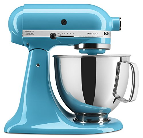 KitchenAid KSM150PSCL Artisan Series 5-Qt. Stand Mixer with Pouring Shield - Crystal (Blue Appliance)
