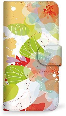 mitas GALAXY S10 SC-03L ケース 手帳型 花 花柄 花がら フラワー オレンジ (419) SC-0068-OR/SC-03L