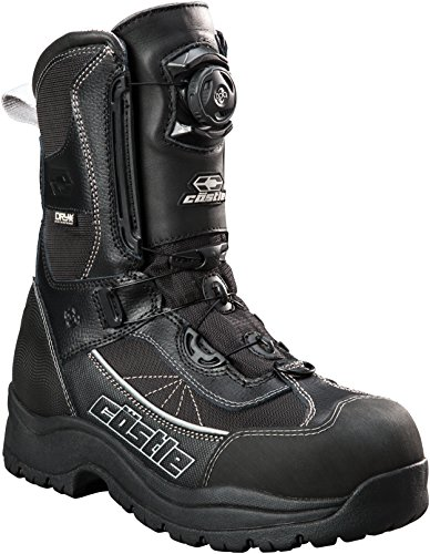 - Castle X Charge Boa Mens Snowmobile Boots - Black/Gray (10)