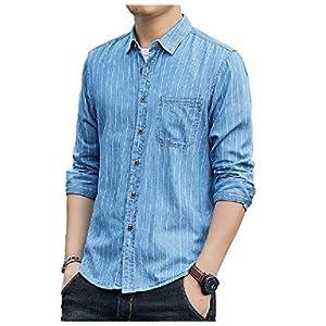 Men's Fashion Casual Loose Long Sleeve Fall Winter Denim Shirt