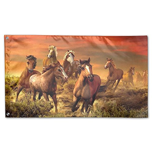 Springtime Oil Painting (QIZHI Oil Painting Horse Funny Yard Garden Flags Springtime Fade Resistant Decorative 3x5 Flag)