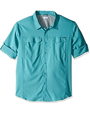 Men's Big-Tall Silver Ridge Lite Long Sleeve Shirt, Teal, 2X