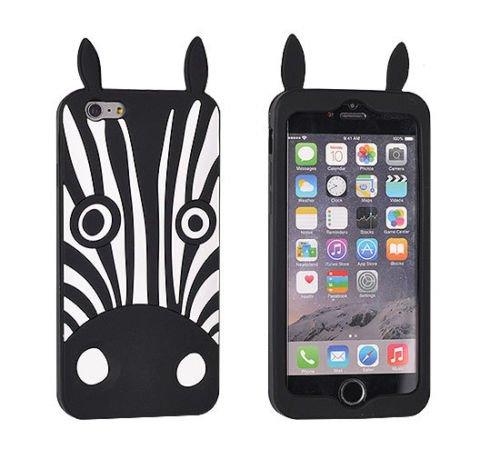 """BACK CASE 3D ZEBRA schwarz Für Apple iPhone 6 4,7"""" Apple iPhone 6S Apple iPhone 6 Handytasche Hülle Cover Case Schutzhülle Tasche"""